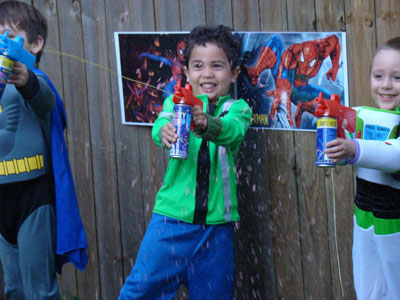 Stelle filanti spray di Spiderman