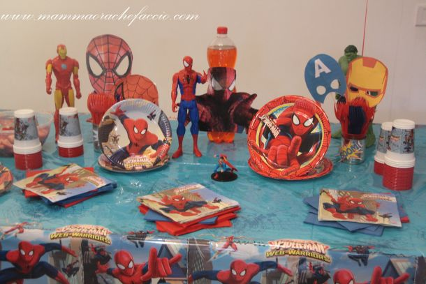 Festa a tema Spiderman: addobbi e accessori