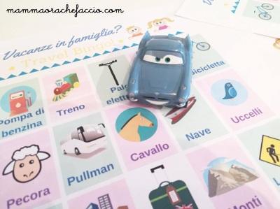 Giochi da fare in auto con i bambini: Travel Bingo pdf scaricabile