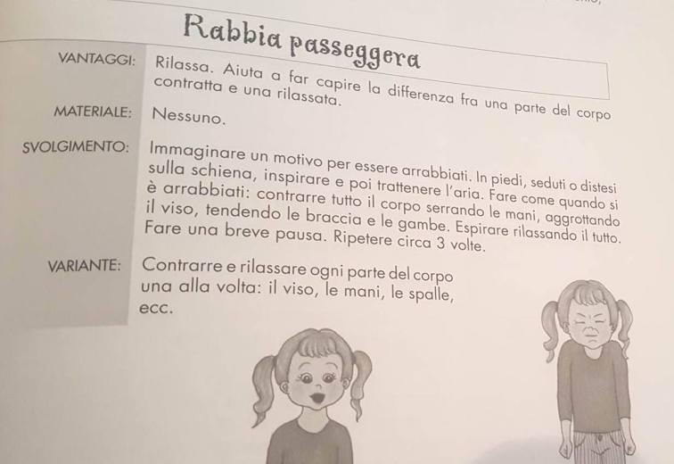 esercizi di rilassamento per bambini 2-6 anni libro