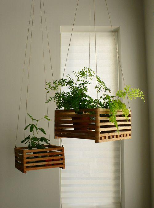 idee green per la casa vasi appesi